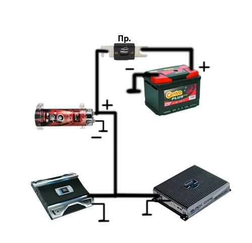 схема подключения аудио усилителя