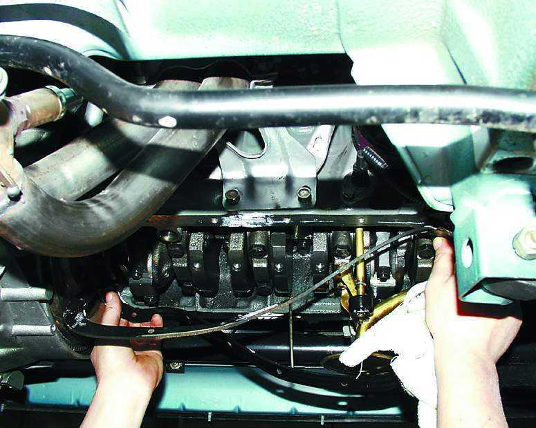 Замена прокладки поддона двигателя